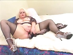 Chubby blonde fucked