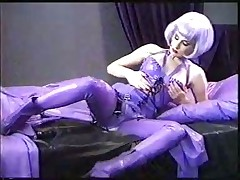 Dita. Masturbation in latex