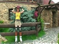 Caprice Outdoors Masturbating With the Bees