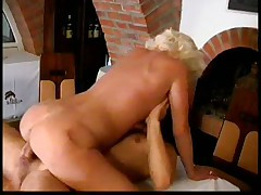 Blond Mature on table