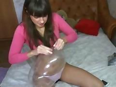 Hot brunette teen on webcam