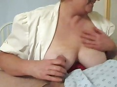 Mature nurse gives special treatment