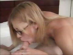 Cute girl in glasses with braces gets fucked