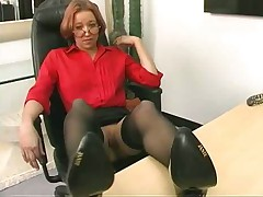 Mature in stockings sextoys