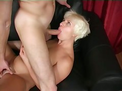 Russian mature Tania Orlova facial