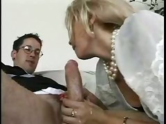 Mature woman got a young boy