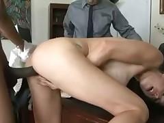 McKenzie Lees hot acion in the office