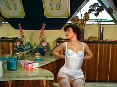 Vintage lady in white stockings