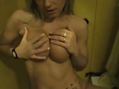 Blonde Gives BJ in Changeroom