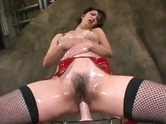 RIKO NISHIKAWA riding her dildo