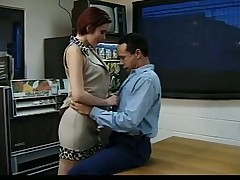Pale Redhead Emo Chick Seduces the Repairman