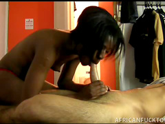 His black GF cocksucker is so hot