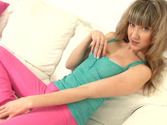 Enjoy sexy undressing with hot teen Adrianne
