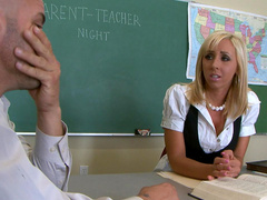 Hot blonde Jessica Lynn fucks with long-dicked teacher