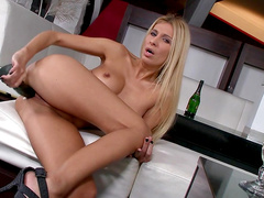 Clara G shows off her long legs and naked ass