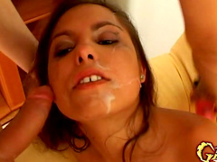 She is making tones of slops during blowjob