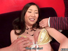 Asian babe Kotone Amemiya gets a creampie after blowjob