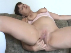 Mature lady fingers hard her beautiful bald snatch