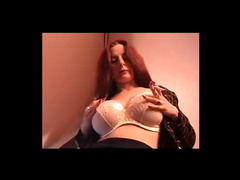 Redhead princess with piercing on her fresh love tunnel