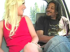 Slim blonde interracial fuck and facial