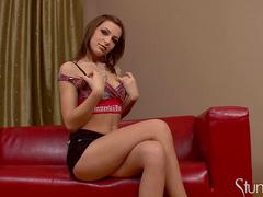 Alluring Florina Rose is taking off her lingerie