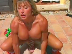 Hot Francesca Petitjean is sucking pole outdoors