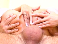 MILF blonde is getting dick in anal