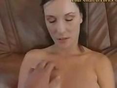 Huge Natural Titty Babe Handles Cock