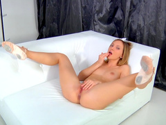Nataly Von playing with her sexy pussy like never before