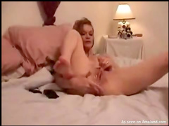 Plunging cock fills her with cum