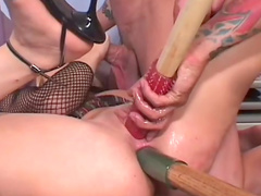 Threesome MMF hardcore sex with Kelly Wells