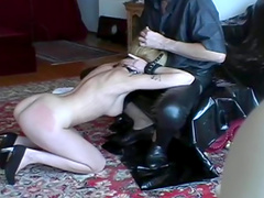 Sub titties suffer pain in BDSM