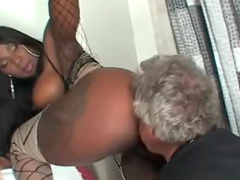 Dominant black chick sits on his face