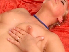 Cora C is sucking such a horny dick in her bedroom