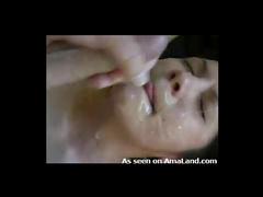 Ball licking girlfriend wants facial