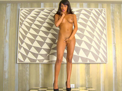 Chloe Amour is a tall woman with long cute legs