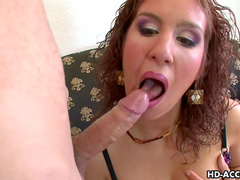 Curly milf being fucked in her tight asshole