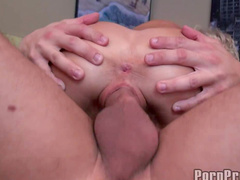 Glamour blonde Kacey Jordan is sucking tasty sperm