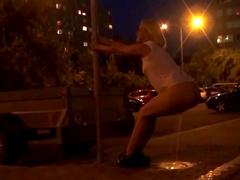 Gorgeous teens pissing in hot outdoor scenes