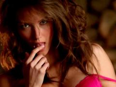 Pornstar brunette Malena Morgan is posing naked