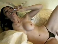 Her ass gets a hard spanking