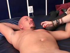Big titty mistress rides his face