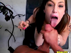 Tia Monae gets dick of Tyler Steel in her deep mouth