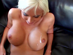 Fake tits bimbo laid in POV