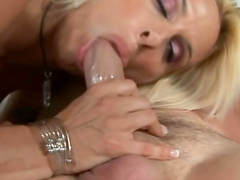 Holly Halston laid by a man that loves milfs