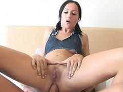 Long schlong up her young asshole