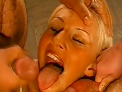 Blonde from Germany really love to swallow