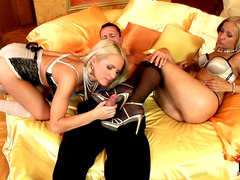 Britney Spring and Candy are getting fucked in their anal holes