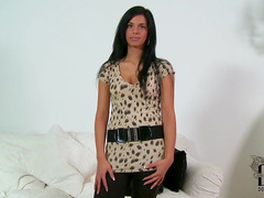 Solo girl Alyssia Loop with fresh kitty is here to show her natural tits