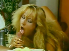 Blonde and brunettes suck meaty rockets in orgy